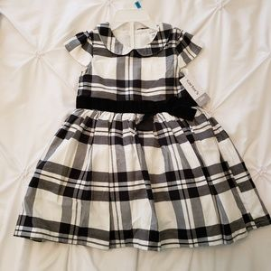 24M Black and White Plaid Holiday Dress